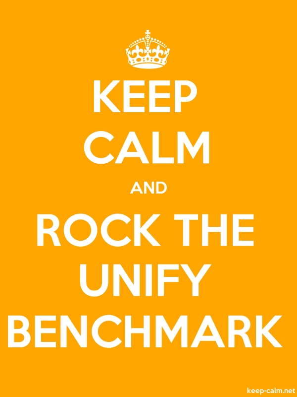KEEP CALM AND ROCK THE UNIFY BENCHMARK - white/orange - Default (600x800)
