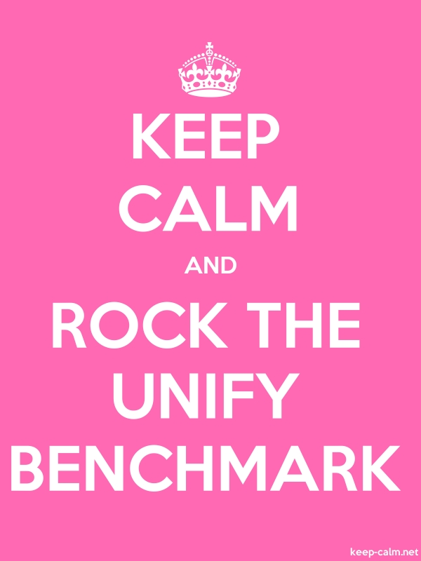 KEEP CALM AND ROCK THE UNIFY BENCHMARK - white/pink - Default (600x800)
