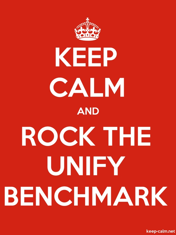 KEEP CALM AND ROCK THE UNIFY BENCHMARK - white/red - Default (600x800)