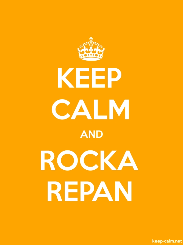 KEEP CALM AND ROCKA REPAN - white/orange - Default (600x800)