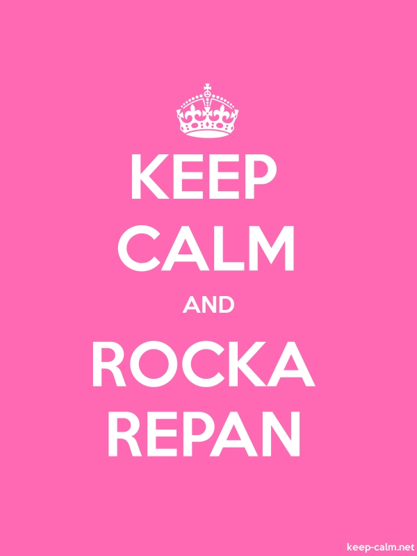 KEEP CALM AND ROCKA REPAN - white/pink - Default (600x800)