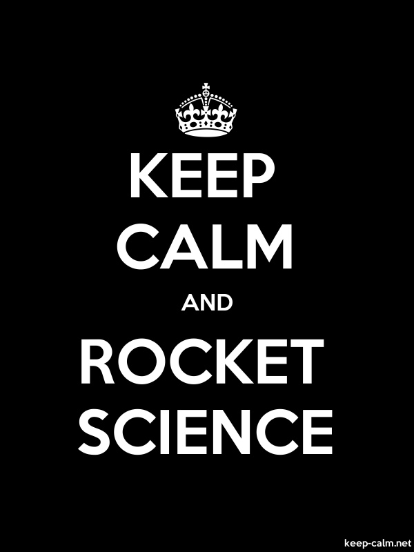 KEEP CALM AND ROCKET SCIENCE - white/black - Default (600x800)