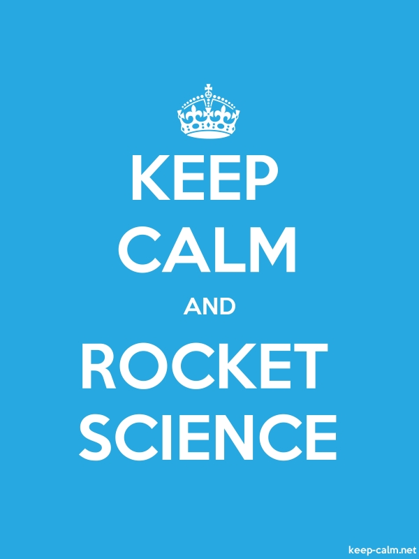KEEP CALM AND ROCKET SCIENCE - white/blue - Default (600x800)