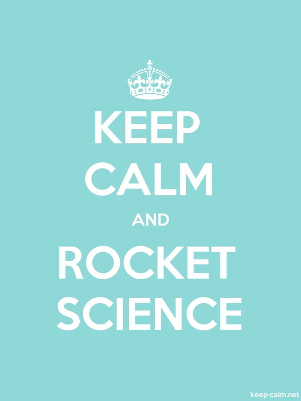 KEEP CALM AND ROCKET SCIENCE - white/lightblue - Default (600x800)