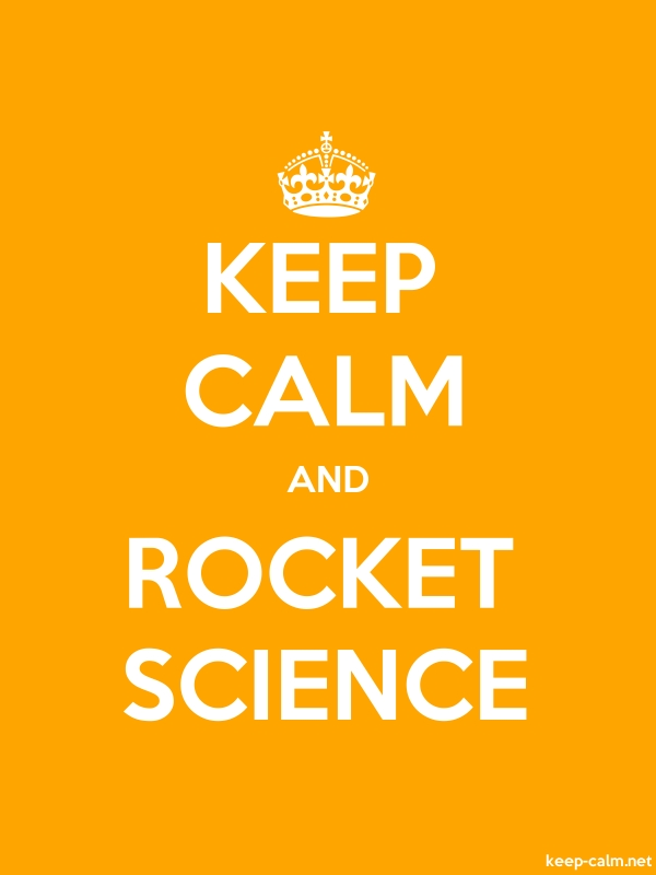 KEEP CALM AND ROCKET SCIENCE - white/orange - Default (600x800)