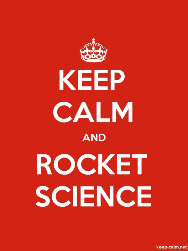 KEEP CALM AND ROCKET SCIENCE - white/red - Default (600x800)