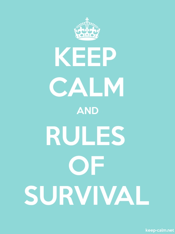KEEP CALM AND RULES OF SURVIVAL - white/lightblue - Default (600x800)