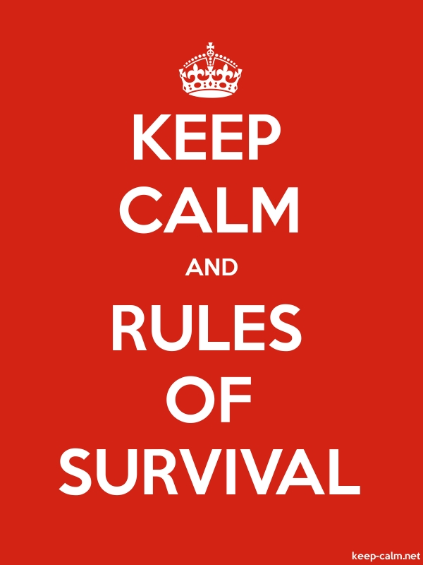 KEEP CALM AND RULES OF SURVIVAL - white/red - Default (600x800)