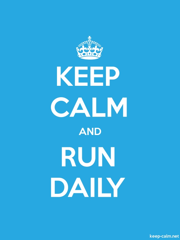 KEEP CALM AND RUN DAILY - white/blue - Default (600x800)