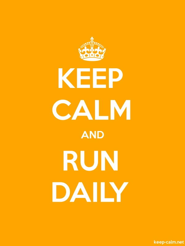 KEEP CALM AND RUN DAILY - white/orange - Default (600x800)