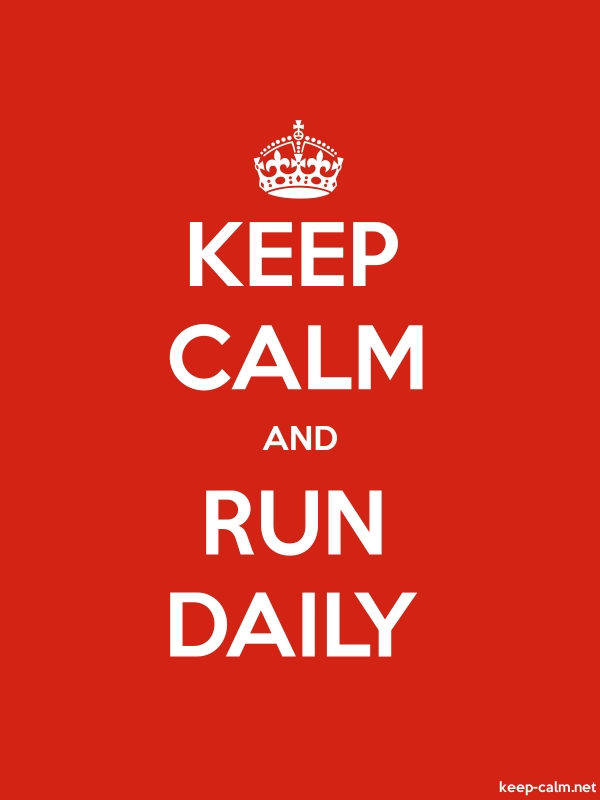 KEEP CALM AND RUN DAILY - white/red - Default (600x800)