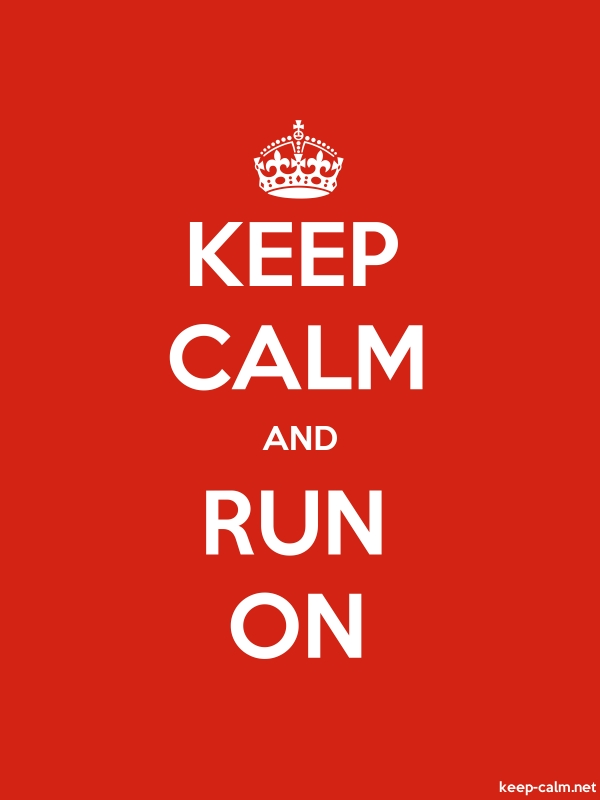 KEEP CALM AND RUN ON - white/red - Default (600x800)
