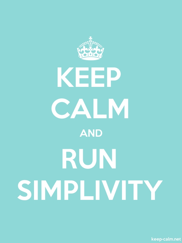 KEEP CALM AND RUN SIMPLIVITY - white/lightblue - Default (600x800)