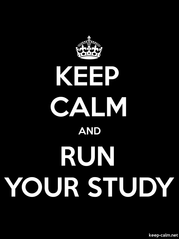 KEEP CALM AND RUN YOUR STUDY - white/black - Default (600x800)