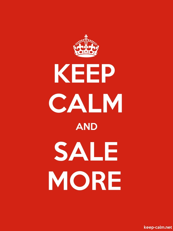 KEEP CALM AND SALE MORE - white/red - Default (600x800)