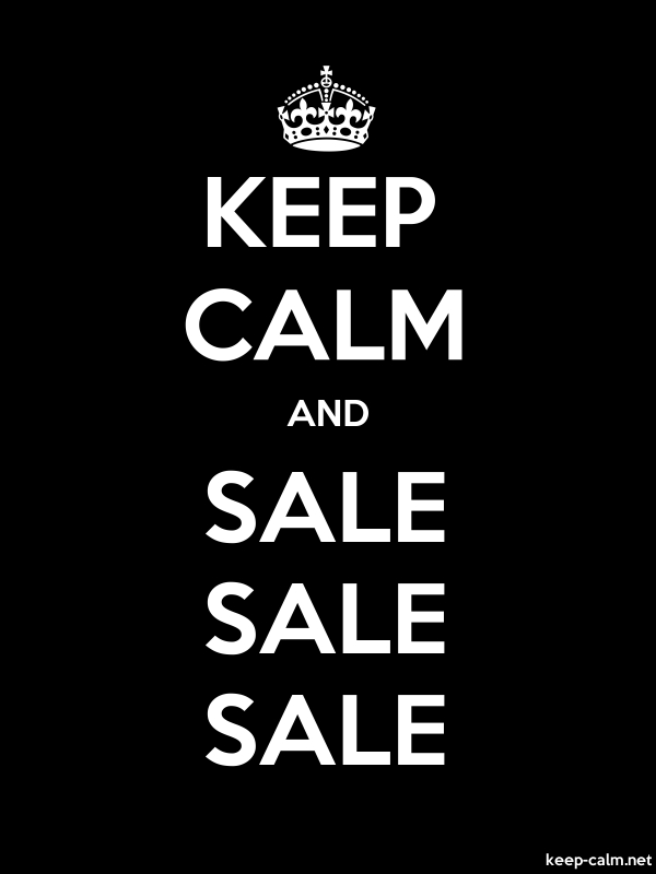 KEEP CALM AND SALE SALE SALE - white/black - Default (600x800)