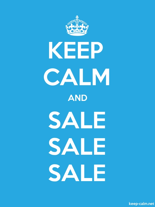 KEEP CALM AND SALE SALE SALE - white/blue - Default (600x800)