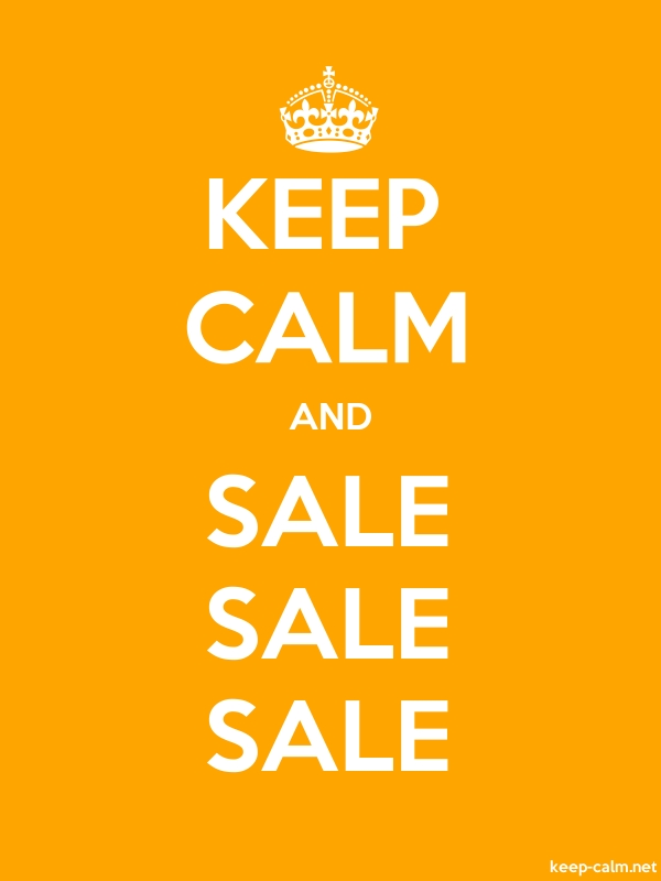 KEEP CALM AND SALE SALE SALE - white/orange - Default (600x800)