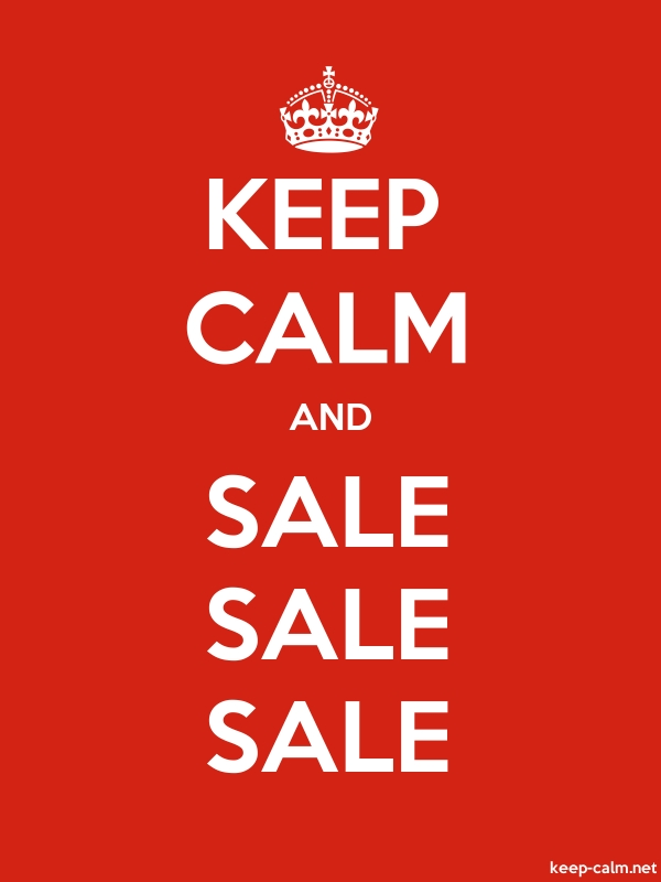 KEEP CALM AND SALE SALE SALE - white/red - Default (600x800)