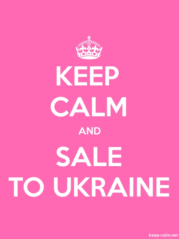 KEEP CALM AND SALE TO UKRAINE - white/pink - Default (600x800)