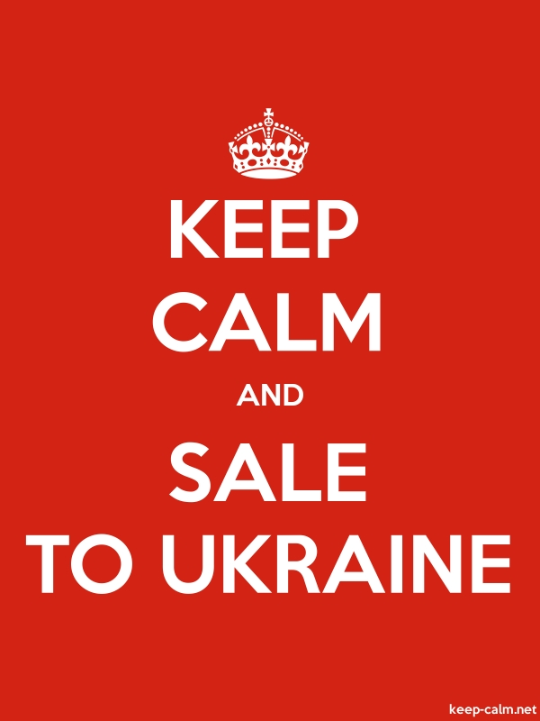 KEEP CALM AND SALE TO UKRAINE - white/red - Default (600x800)