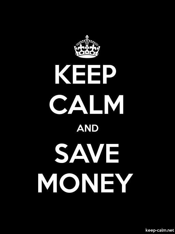 KEEP CALM AND SAVE MONEY - white/black - Default (600x800)