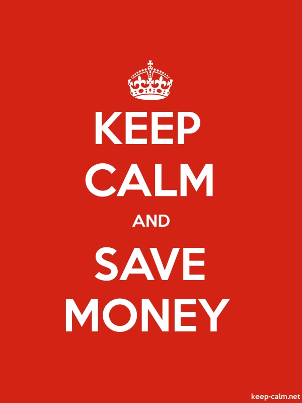 KEEP CALM AND SAVE MONEY - white/red - Default (600x800)