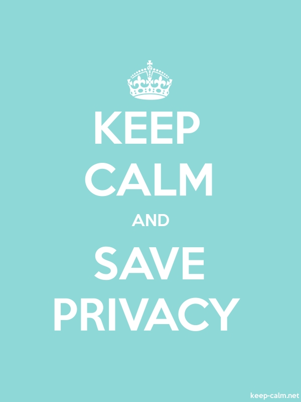 KEEP CALM AND SAVE PRIVACY - white/lightblue - Default (600x800)