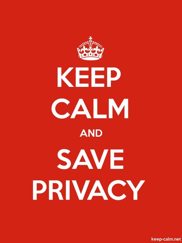 KEEP CALM AND SAVE PRIVACY - white/red - Default (600x800)