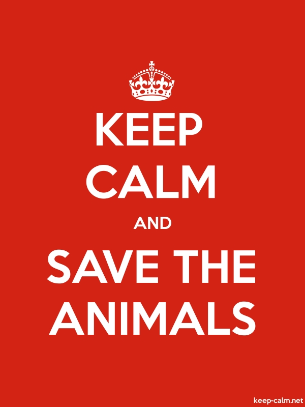 KEEP CALM AND SAVE THE ANIMALS - white/red - Default (600x800)