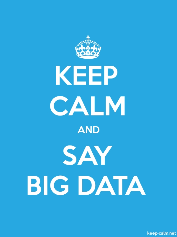 KEEP CALM AND SAY BIG DATA - white/blue - Default (600x800)