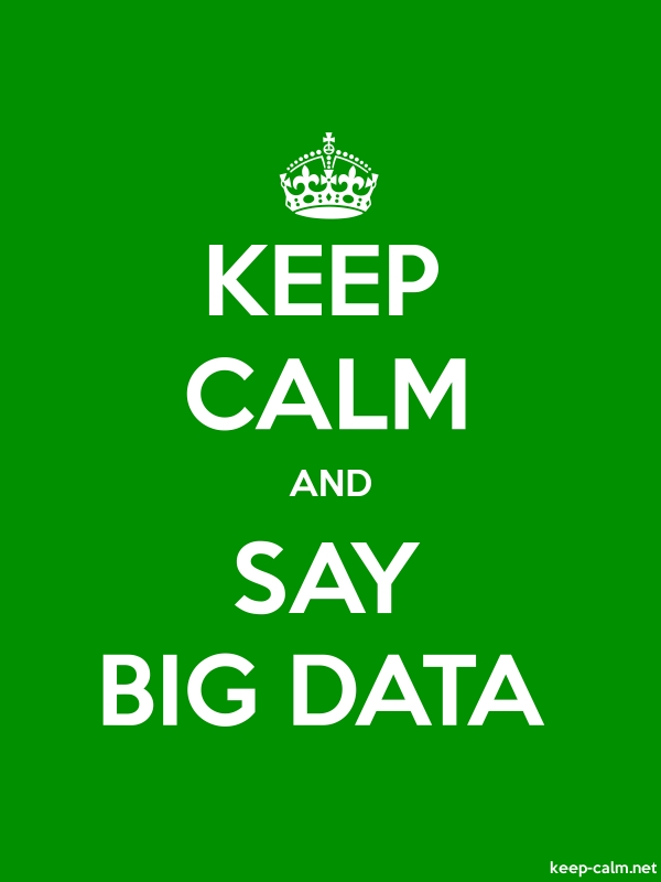 KEEP CALM AND SAY BIG DATA - white/green - Default (600x800)
