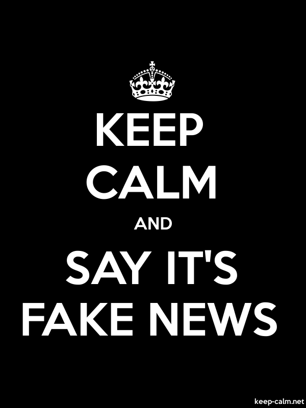 KEEP CALM AND SAY IT'S FAKE NEWS - white/black - Default (600x800)