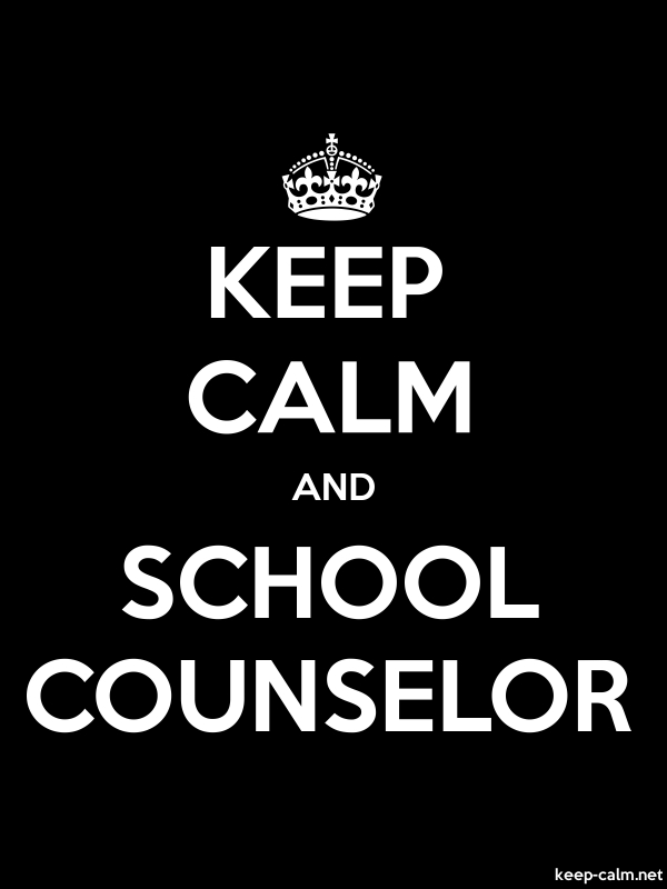 KEEP CALM AND SCHOOL COUNSELOR - white/black - Default (600x800)