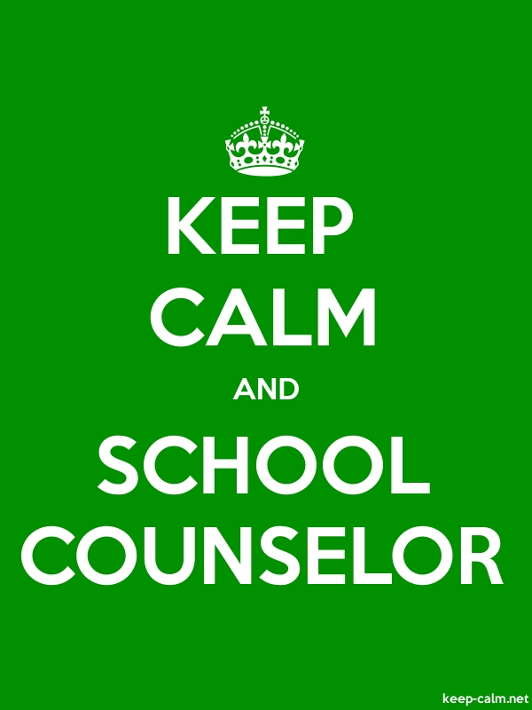 KEEP CALM AND SCHOOL COUNSELOR - white/green - Default (600x800)