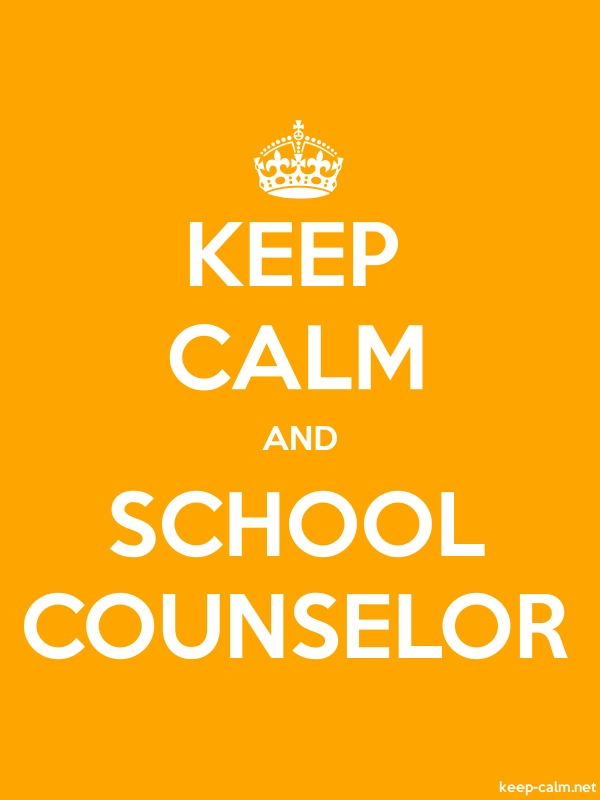 KEEP CALM AND SCHOOL COUNSELOR - white/orange - Default (600x800)