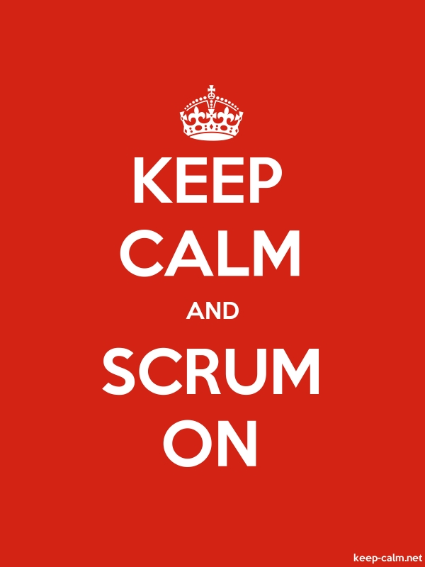 KEEP CALM AND SCRUM ON - white/red - Default (600x800)