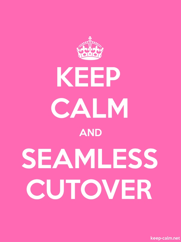 KEEP CALM AND SEAMLESS CUTOVER - white/pink - Default (600x800)