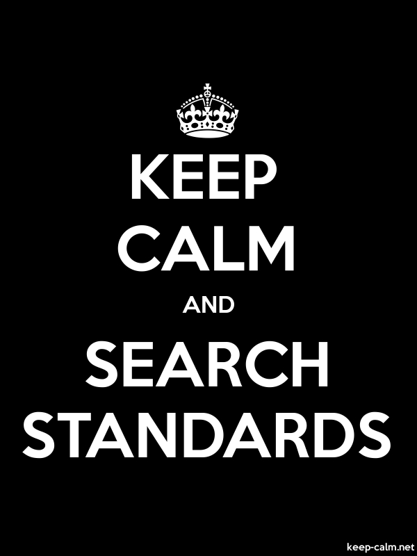 KEEP CALM AND SEARCH STANDARDS - white/black - Default (600x800)