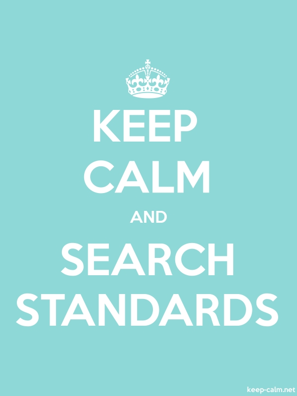 KEEP CALM AND SEARCH STANDARDS - white/lightblue - Default (600x800)