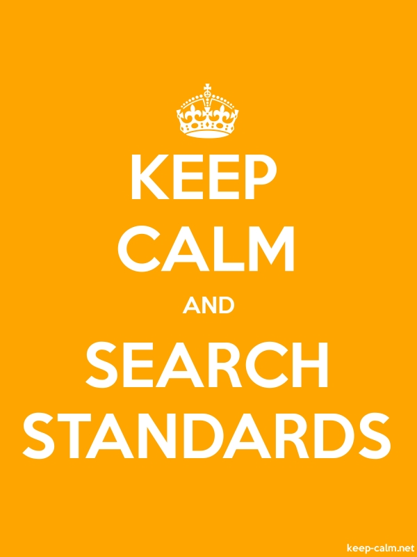 KEEP CALM AND SEARCH STANDARDS - white/orange - Default (600x800)