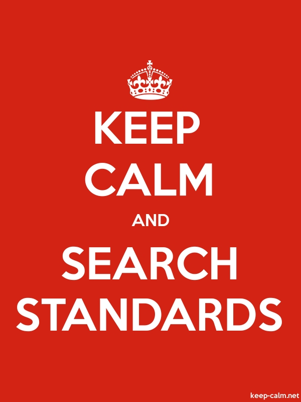 KEEP CALM AND SEARCH STANDARDS - white/red - Default (600x800)