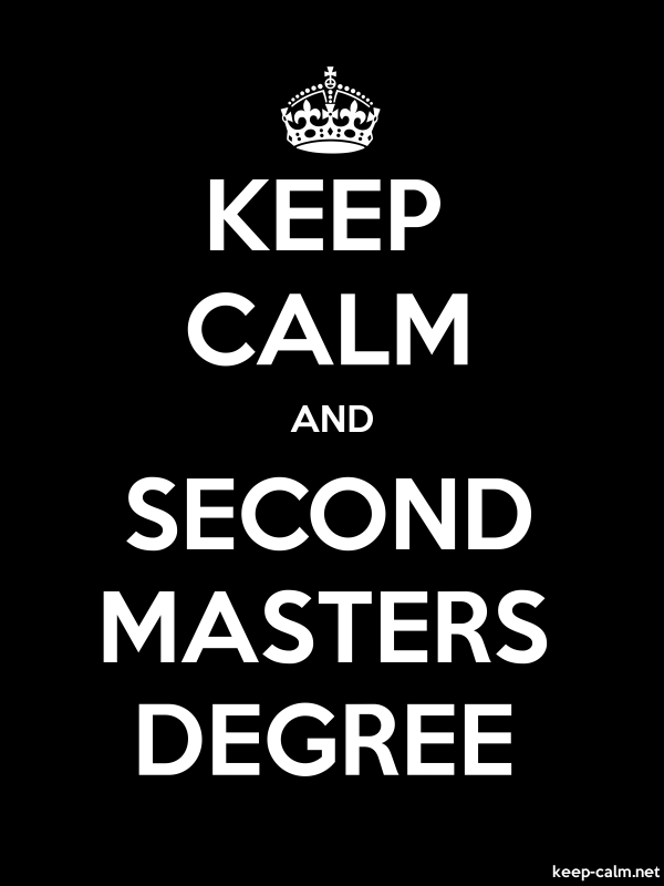 KEEP CALM AND SECOND MASTERS DEGREE - white/black - Default (600x800)