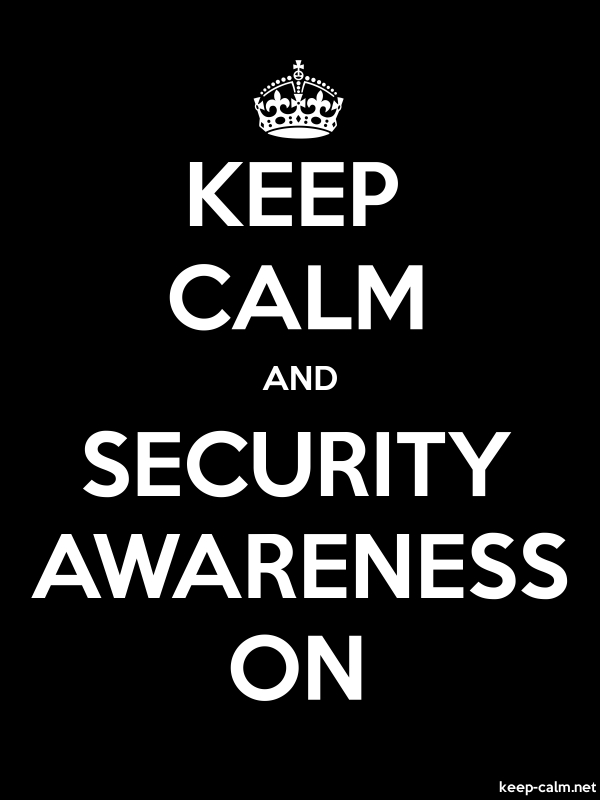 KEEP CALM AND SECURITY AWARENESS ON - white/black - Default (600x800)