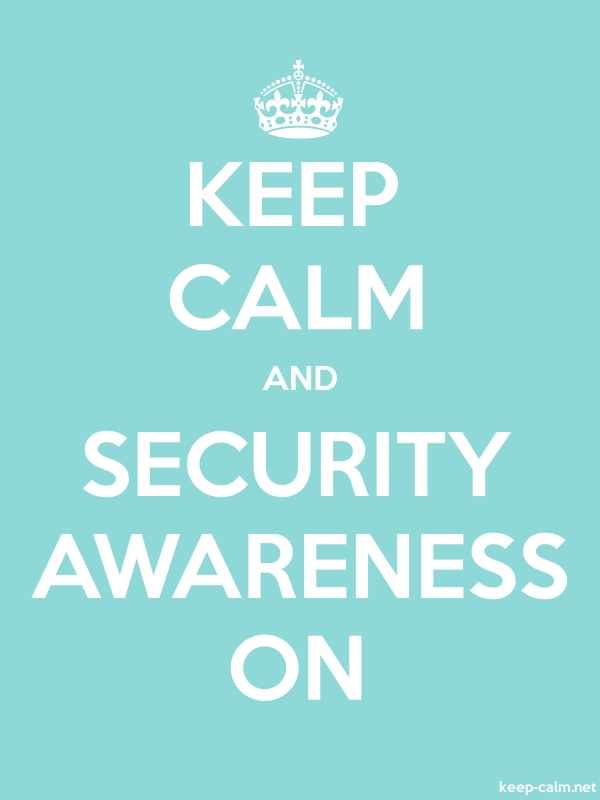 KEEP CALM AND SECURITY AWARENESS ON - white/lightblue - Default (600x800)