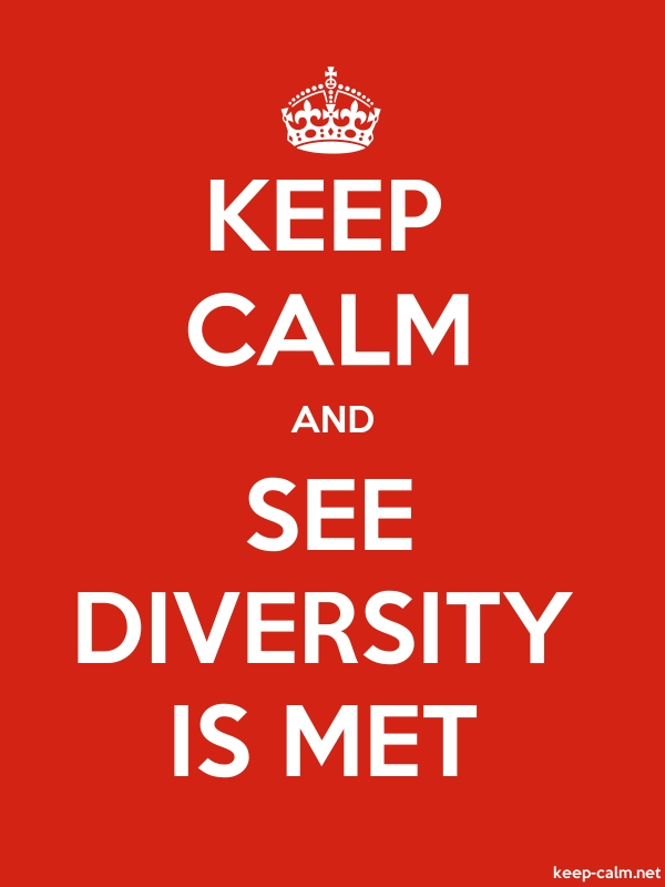 KEEP CALM AND SEE DIVERSITY IS MET - white/red - Default (600x800)