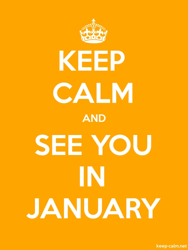 KEEP CALM AND SEE YOU IN JANUARY - white/orange - Default (600x800)