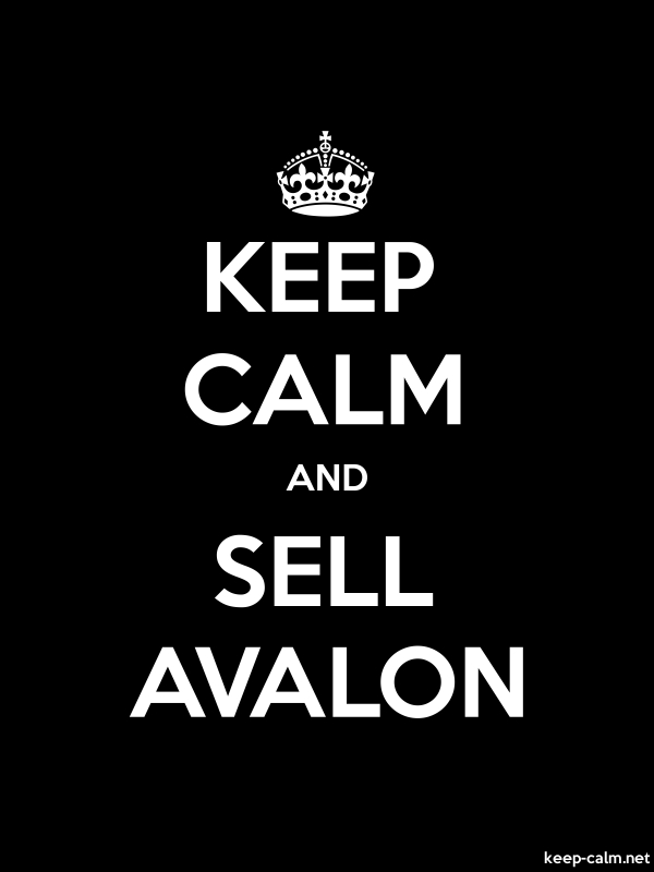 KEEP CALM AND SELL AVALON - white/black - Default (600x800)
