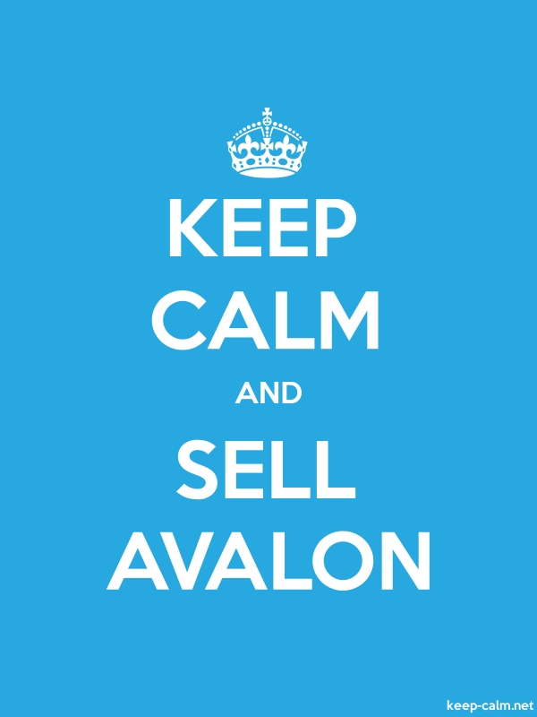 KEEP CALM AND SELL AVALON - white/blue - Default (600x800)