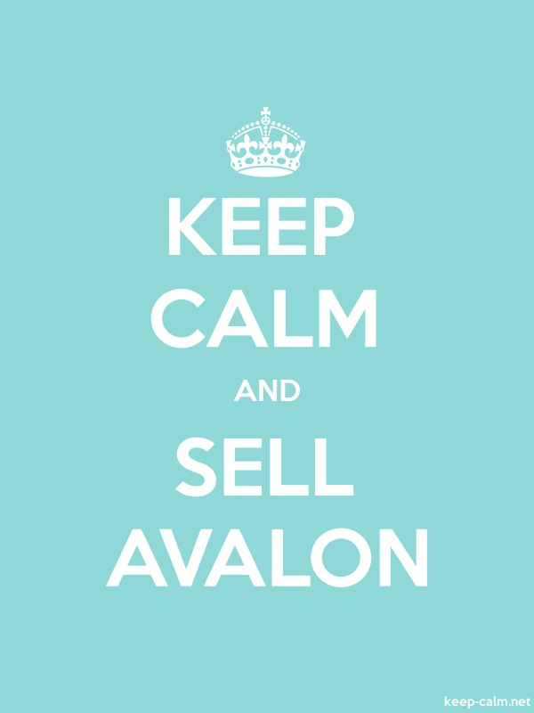 KEEP CALM AND SELL AVALON - white/lightblue - Default (600x800)